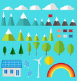 set ecology vector image vector image