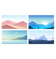 set of banners with landscapes vector image
