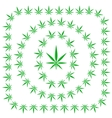 Set of Cannabis Frames vector image vector image