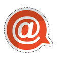 speech bubble with arroba symbol isolated icon vector image vector image