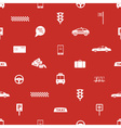 taxi icons red seamless pattern eps10 vector image vector image