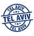 tel aviv blue round grunge stamp vector image vector image