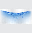 transparent water wave with bubbles vector image vector image