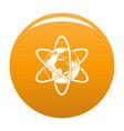 travel world icon orange vector image