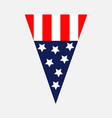 triangle pennant shape american flag star vector image vector image
