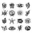 versus icon sketch set vector image vector image