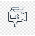 video camera concept linear icon isolated on vector image