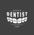 vintage dental label vector image