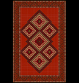 Vintage luxurious ethnic red rug with vector image vector image