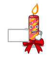 with board character christmas decoration with vector image vector image