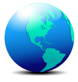 North and South America Global World vector image