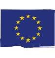 grunge european union flag or banner vector image