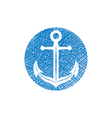 Anchor icon with hand drawn lines texture vector image