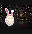 happy easter day design gold egg banner and vector image