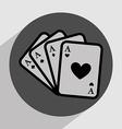 casino games icon vector image