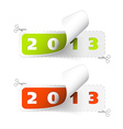 2012 2013 new year stickers vector image vector image