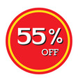 55 off discount price tag isolated vector image vector image