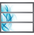 Abstract smoke blue headers vector image