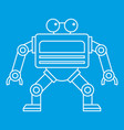automation machine robot icon outline style vector image vector image