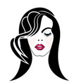 beauty woman salon makeup icon vector image