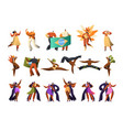 brazilian carnival salsa dancer costume set latino vector image