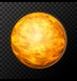 bright realistic venus planet with texture vector image vector image