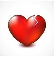 Broken heart with crack background vector image vector image