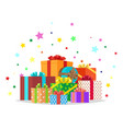 bunch presents holiday collection vector image