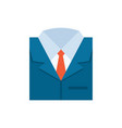 business suit icon - flat vector image vector image