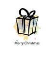 Christmas object with sample text vector image vector image