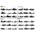 city skyline european countries vector image