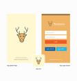 company reindeer splash screen and login page vector image vector image