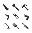 construction tools icons vector image vector image