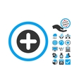 Create Flat Icon With Bonus vector image