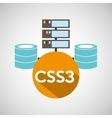 css3 language data base storage vector image vector image