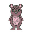 cute brown bear character cartoon vector image