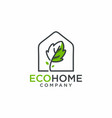 eco home logo design vector image vector image