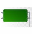 empty urban big board or billboard blank mockup vector image vector image