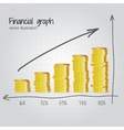Financial graph vector image vector image