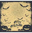 halloween background silhouettes vector image vector image