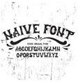 hand drawn trendy font custom handwritten vector image vector image