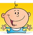 Happy Baby Boy Cartoon Character vector image vector image