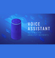 isometric voice assistant automated analyst report vector image vector image