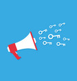 megaphone icon cartoon style marketing concept vector image vector image