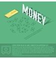 money business background concept design vector image vector image