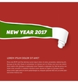 New Year colors hole in cardboard teared sides so vector image vector image