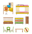 Nursery and children furniture vector | Price: 3 Credits (USD $3)