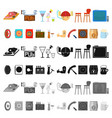 part of the body limb cartoon icons in set vector image vector image