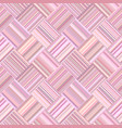 pink geometrical diagonal striped tile mosaic vector image vector image