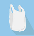 plastic bags with long shadow vector image